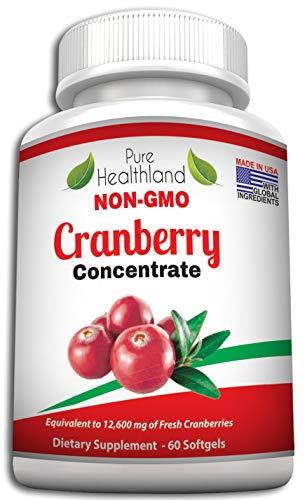 GMO-Frei Cranberry Konzentrat Ergänzungen Kapseln für Harnwegsinfektion Harninfekt. Entspricht 12.600 mg Frische Moosbeeren! Fördern Sie die Gesundheit von...