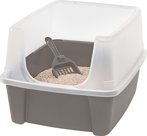 Iris Katzentoilette mit Rand und Schaufel'Cat Litter Box', Plastik, 48,5 x 38 x 30,5 cm