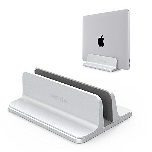OMOTON Verstellbarer vertikalen Laptop Ständer, Aluminium Platzsparender Ständer für alle Handys und Notebooks - Perfekt für MacBook, MacBook Air, MacBook Pro,...
