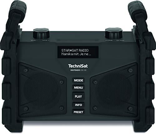 TechniSat DIGITRADIO 230 OD - DAB+ Baustellenradio (DAB+, DAB, UKW, USB, AUX in, Bluetooth, leistungsstarker Akku, Favoritenspeicher, 2 x 6 Watt Stereo-Lautsprecher)...