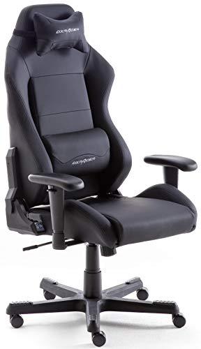 Robas Lund DX Racer 3 Gaming Stuhl Bürostuhl Schreibtischstuhl mit Wippfunktion Gamer Stuhl Höhenverstellbarer Drehstuhl PC Stuhl Ergonomischer Chefsessel, schwarz