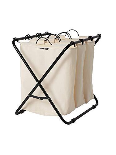 ABOUT YOU Wäschekorb'Homie' mit 3 oder 4 herausnehmbaren Wäschesäcken, geräumiger Wäschesammler zum Sortieren und Wäsche trennen, Metall Korb mit Fächern...