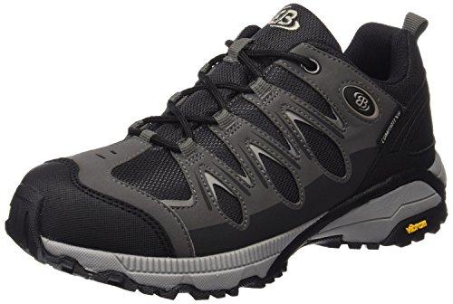 Bruetting Men's Expedition Trekking & Hiking Shoes, Black (BLACK / GRAY), 45 EU