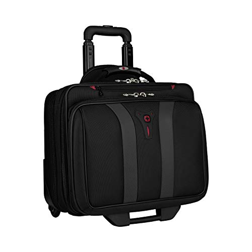 Wenger 600659 GRANADA 17 Inch Wheel Laptop Bag, Padded Laptop Compartment with Overnight Tray in Black / Gray {24 Liter}