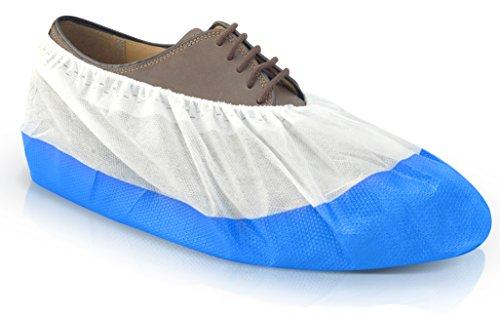 Long Life Überschuhe Schuhüberzieher mit rutschfester Sohle extra stark von Urban Medical® | 50 Onesize Überziehschuhe Schuh Überzieher Wasserfest Reißfest...