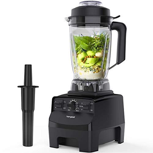 Standmixer Smoothie Maker,homgeek 2000W 2L Tritan-Behälter BPA-Free Edelstahl Standmixer 10 Geschwindigkeitsstufen,Deckel mit Nachfüllöffnung,Impuls-/Ice-Crush...