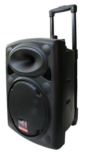 E-Lektron EL25-M 500W mobile PA sound system battery-MP3-USB-SD incl. Wireless microphones sound system