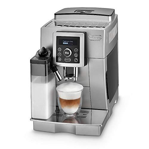 De'Longhi ECAM 23.466.S Kaffeevollautomat mit Milchsystem, Cappuccino und Espresso auf Knopfdruck, Digitaldisplay mit Klartext, 2-Tassen-Funktion, Großer 1,8 Liter...