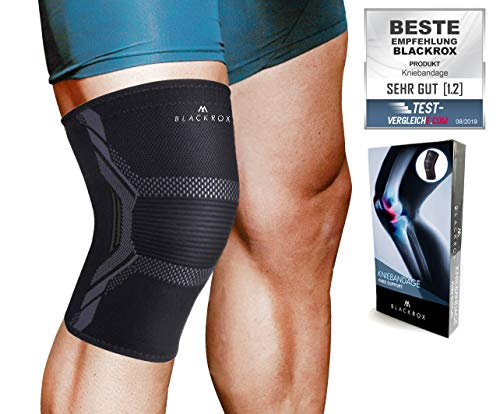 BLACKROX knee support sports comparison winner compression knee support, sports knee support, sports soccer, jogging breathable, elastic, knee pads, knee support ...