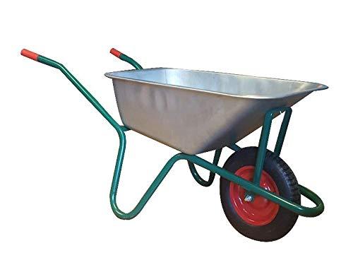 BPA Schubkarre Bauschubkarre Schiebekarre Grün mit 85l Liter und Luftrad