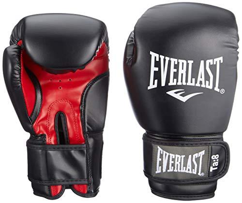 Everlast Adult Boxing Punching Gloves 1803, Black (Black / Red), 10 oz