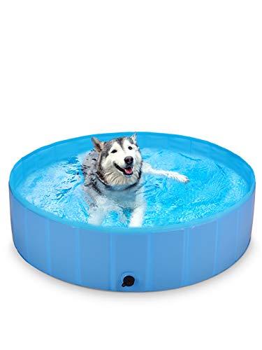 BlueFire Hundepool 120x30cm, Hund Schwimmbecken Planschbecken Faltbar Hundeplanschbecken Swimmingpool, Leicht Aufbaubar, PVC rutschfest Hundebadewanne fur Kleine...