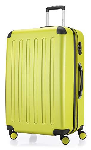 HAUPTSTADTKOFFER - Spree - Hartschalen-Koffer Koffer Trolley Rollkoffer Reisekoffer Erweiterbar, 4 Rollen, TSA, 75 cm, 119 Liter, Farn
