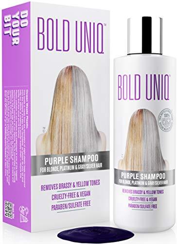 Silbershampoo - Anti-Gelbstich Purple Shampoo für blonde, blondierte, gesträhnte und graue Haar - No Yellow von für Silber- Aschblond-Tönung - ohne Sulfat &...