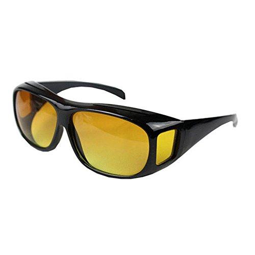 Boolavard Überzieh Nachtsichtbrille für Autofahrer, für Brillenträger, getönte polarisierende Gläser, gemäß ISO Norm, schwarz/gelb