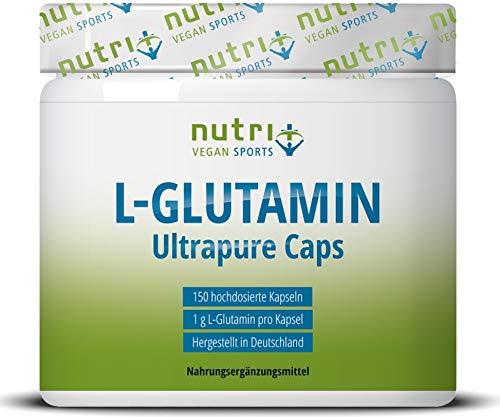 L-GLUTAMIN KAPSELN Ultrapure - 150 Mega Caps je 1000mg ohne Zusatzstoffe - höchste Dosierung - Markenqualität hergestellt in Deutschland - Fitness & Bodybuilding -...