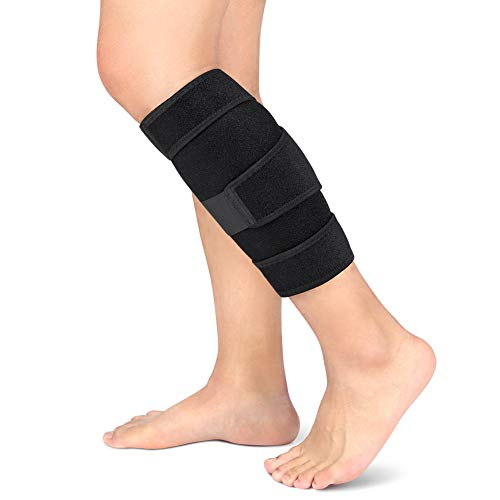Calf compression bandage, calf bandage adjustable neoprene lower leg bandage support for men torn muscle, reduces swelling, leg ...