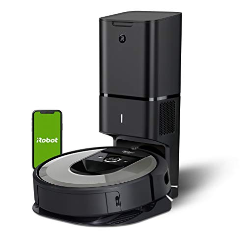 iRobot Roomba i7+ (i7556) Saugroboter, automatische Absaugstation, intelligente Raumerfassung, Zeitplanreinigung, 2 Multibodenbürsten, WLAN Staubsauger Roboter,...