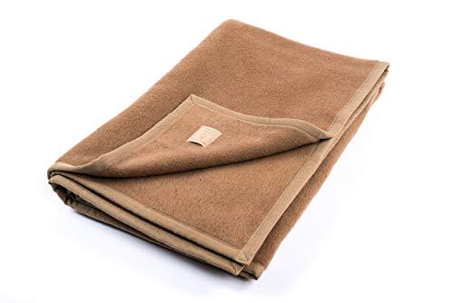 """Ritter Decken Kamelhaardecke """"Maharadscha 150 x 200 cm Kamel (ungefärbt) aus 100% Kamelhaar (Natur) weich. Wolldecke aus eigener Herstellung. Geeignet als..."""