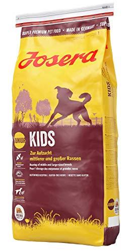 JOSERA Kids (1 x 15 kg) | Welpenfutter für mittlere und große Rassen | ohne Weizen | Super Premium Trockenfutter für wachsende Hunde | 1er Pack
