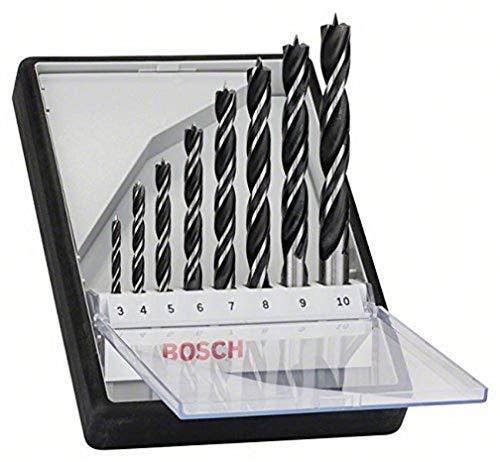 Bosch Professional 8tlg. Robust Line Holzspiralbohrer Set (für Holz, Zubehör Bohrschrauber)