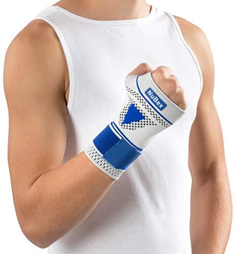 Nutrics | Aktiv Handgelenkbandage | Damen und Herren | Mehr Stabilität | Elastische Pelotte | Bei Sehnenscheidenentzündung (Rechte Hand, L (21-23cm))