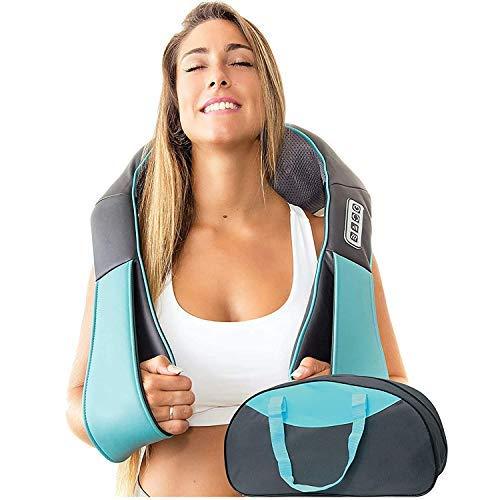Nackenmassagegerät mit Wärmefunktion - Shiatsu Massagegeräte elektrisch - Massagegerät Schulter Rücken mit Wärme Funktion - Nackenmassage Gerät 3D Rotation