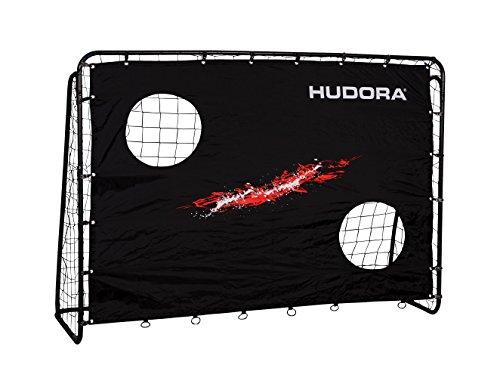 HUDORA Fußballtor Trainer mit Torwand | Kicker-Jubiläums & Standard Edition | Garten Fußball-Tor (213 x 152 x 76 cm) mit leichter Click-Montage