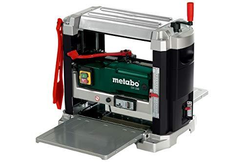 Metabo Dickenhobel DH 330 (0200033000) Karton, Abmessungen: 579 x 857 x 574 mm, Spanabnahme Dickenhobeln: 0 - 3 mm, Material Dickentisch: Alu-Guss Edelstahl belegt