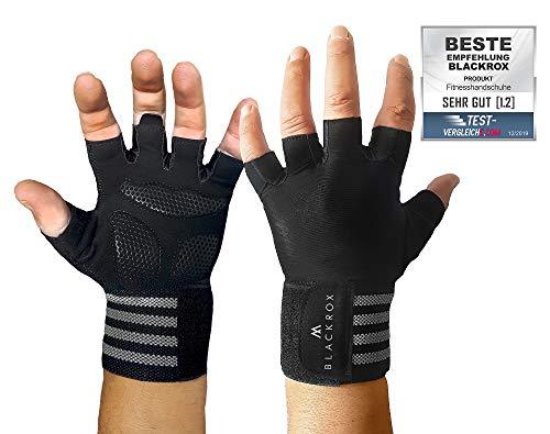 BLACKROX training gloves comparison winner fitness gloves with wrist support men u. Women, gloves for weight training, gym gloves, fitness gloves, ...