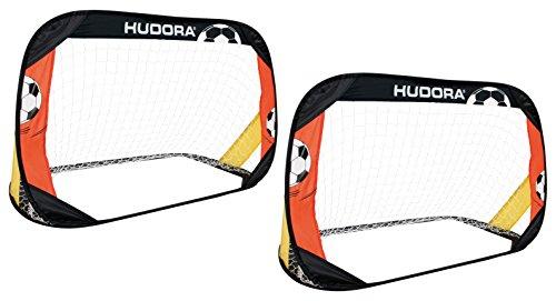 HUDORA Soccer Goal Pop Up 2er Set - Soccer Goal Garden Folding - 76994