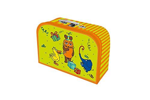 Trötsch, Kinderkoffer'Die Maus',Pappkoffer, Koffer aus Pappe, Geschenk Verpackung, Gutschein Verpackung,Spielkoffer, Metallgriff und Metallhenkel, Reisekoffer...