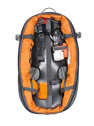 ABS Lawinenrucksack P.Ride Compact Base Unit, Partnerauslösung, Twinbags für mehr Sicherheit, verwendbar mit S.Light + P.Ride Compact Zipons und Carbon Inflator,...