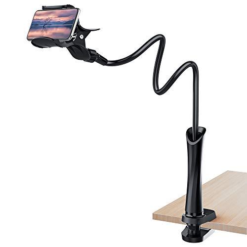 UVERTOOP Handy Halterung, Flexibler Handyhalterung Bett Handy Halter Tisch mit Schwanenhals Langer Arm Handy Ständer für iPhone 11 Pro Xs Max 8 7 Samsung S10 und...