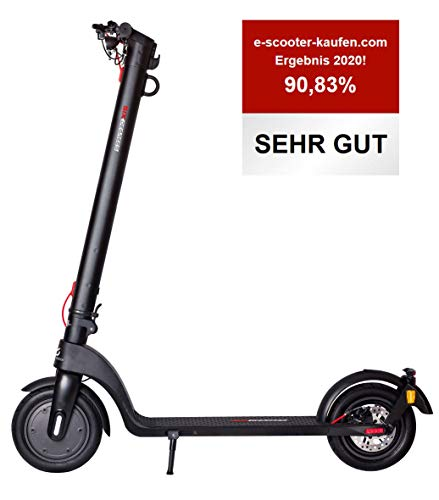 Scoot One E-Scooter E7 - street legal / ABE, removable PANASONIC lithium-ion battery, 20 km / h, 8,5 inch pneumatic tires, black