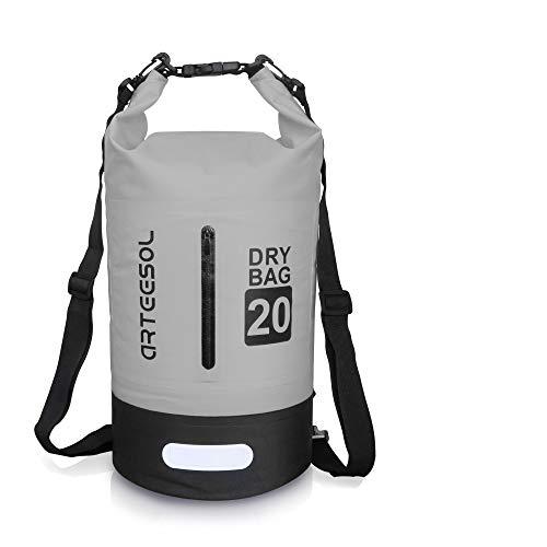 arteesol Dry Bag - 5L/10L /20L /30L wasserdichte Packsack/Trockentasche,Verstellbarer Schultergurt inklusive