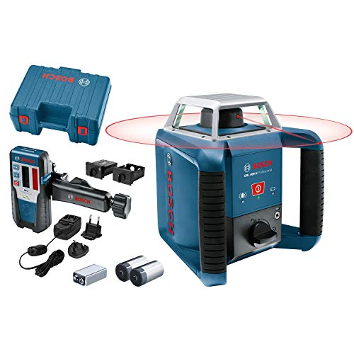 Bosch Professional GRL 400 H, 400 m Work area with receiver, transport case, receiver