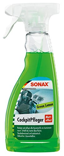 SONAX CockpitPfleger Matteffect Green Lemon (500 ml) reinigt und pflegt alle Kunststoffteile im Auto   Art-Nr. 03582410