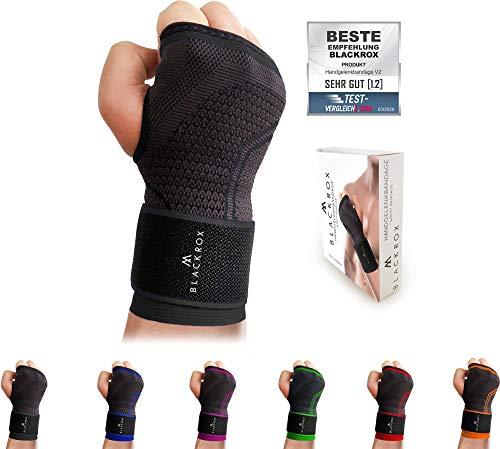 BLACKROX Handgelenk Bandage Fitness V2, für Frauen u. Männer, rechte oder Linke Hand, Handgelenkstütze, stabilisiert Handgelenkschoner, Wrist Wraps,...