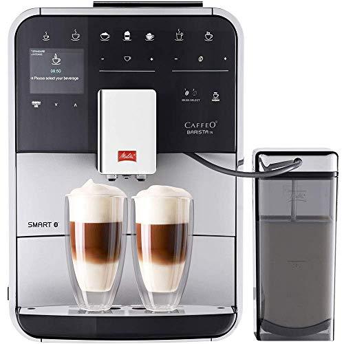 Melitta Caffeo Barista TS Smart F850-101 Kaffeevollautomat mit Milchbehälter | Smartphone-Steuerung mit Connect App | One Touch Funktion | Pro Aqua...