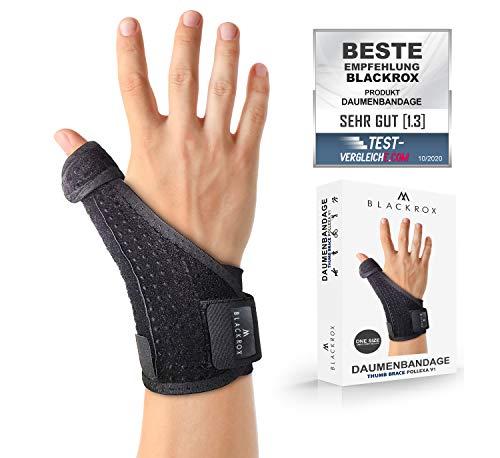 BLACKROX Daumenbandage POLLEXA V1 Daumenstütze für rechts & links arthrose Daumenschiene Sehnenscheidenentzündung one size, zerrungen arthritis daumensattelgelenk...