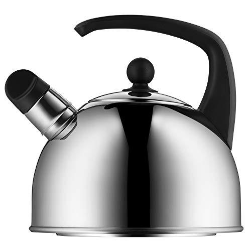 WMF Wasserkessel Induktion 2,0l, Flötenkessel, Teekessel mit Flöte, Cromargan Edelstahl poliert