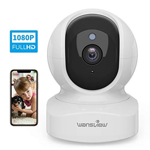 WLAN IP Kamera, Wansview Überwachungskamera WiFi 1080P, Haustier Kamera, Home und Baby Monitor mit Bewegungserkennung, Zwei-Wege-Audio, Unterstützt Fernalarm und...