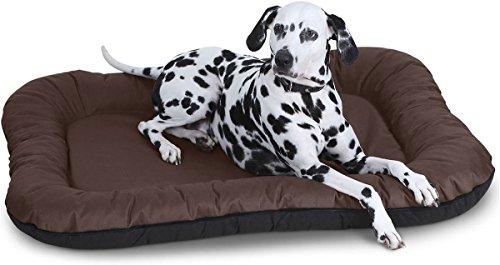 Knuffelwuff In und Outdoor Hundebett XXL 118 x 85cm Braun Wasserdicht Hundesofa Hundekorb