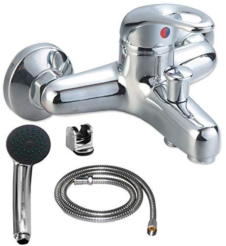 Badewannenarmatur mit Handbrause (Brauseschlauch) | Wannen Armatur | Einhebelmischer mit Handbrause | Badarmatur | Kchenarmatur | Waschbeckenrmatur | Wasserhahn |...