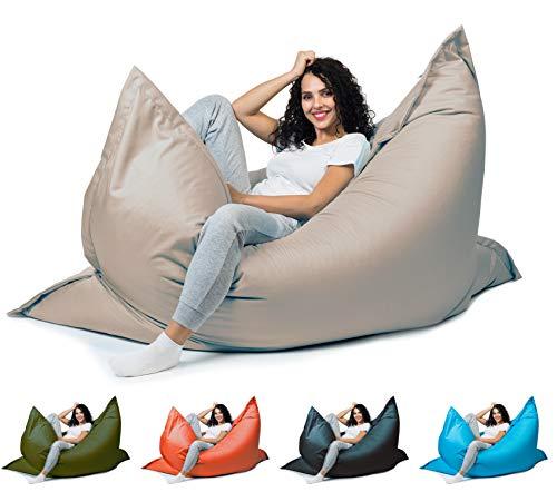 sunnypillow XL Sitzsack, Riesensitzsack Outdoor & Indoor 100 x 150 cm mit 140L Styropor Füllung Sessel für Kinder & Erwachsene Sitzkissen Sofa Beanbag viele Farben...