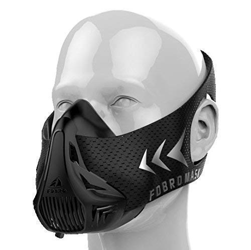 Respiratory mask for altitude training by FDBRO, simulates altitude air, suitable for all types of training and physical activities - M / 70-100KG