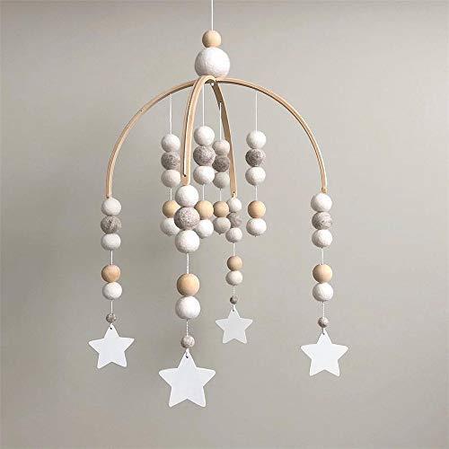 Nicole Knupfer Babybett Mobile Windspiel Rassel Spielzeug, Neugeborenen Kinderzimmer hängende Bettglocke, Holz Ornament Geschenk für Baby Mädchen oder Jungen...