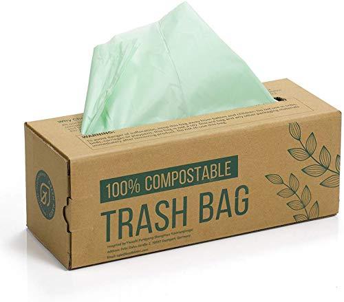 150 Beutel für Kompostbehälter 6L 8L 10L Küchen Lebensmittel Abfallbeutel 100% biologischer und abbaubarer Beutel aus Maisstärke mit EN13432 Zertifizierung (8L)