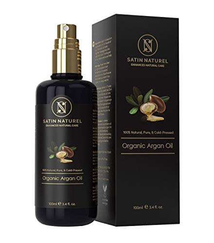 DER SIEGER 06/20* BIO Arganöl Vegan + Kaltgepresst - 100ml in Lichtschutz Glas-Flasche - Anti-Aging - Feuchtigkeitspflege für Junge Haut, Gesicht, Haare & Nägel...